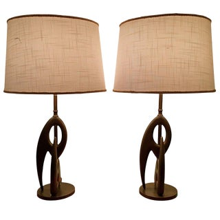Biomorphic Sculptural Table Lamps by Rembrandt - a Pair For Sale