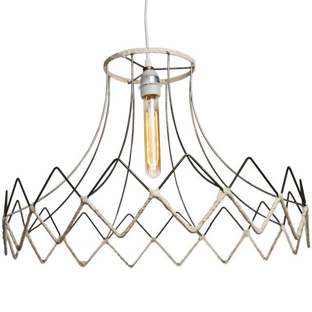Vintage Lampshade Frame Pendant Light | Chairish