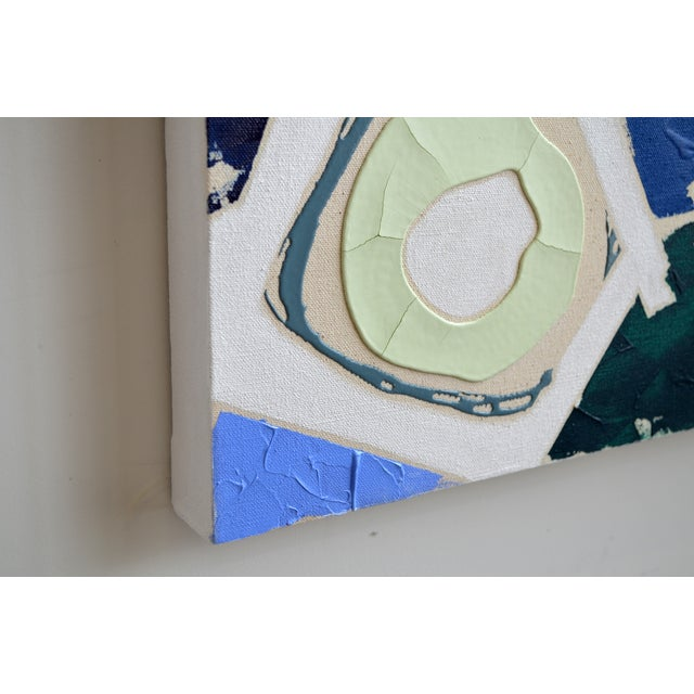 Blue & Green Abstract Painting, Brushless #6 - Image 4 of 4