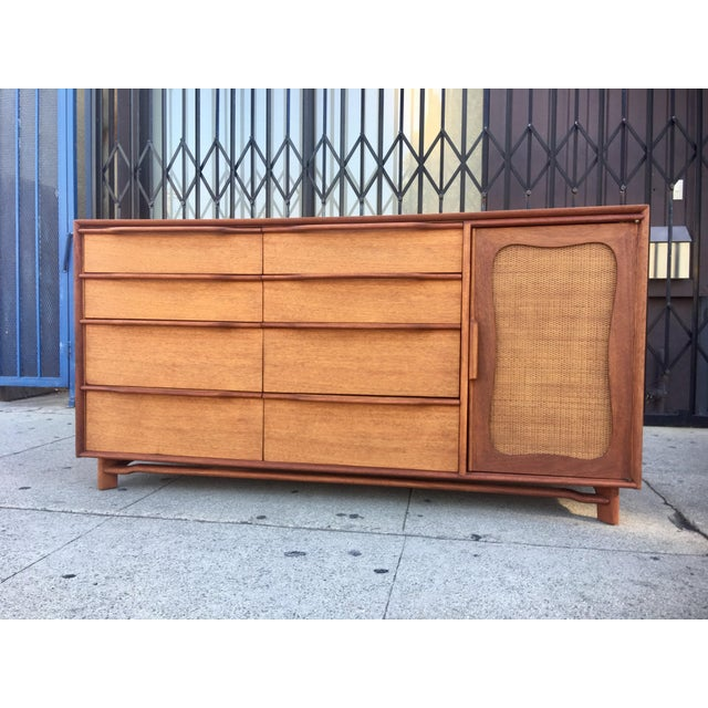 Now available is stunning midcentury credenza by Hickory Manufacturing company. Superb construction, solid mahogany,...