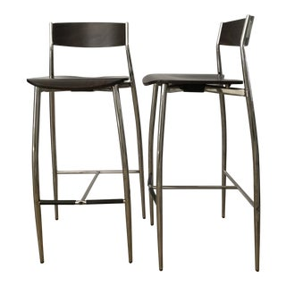 Modern Design Within Reach Baba Bar Stools- a Pair For Sale