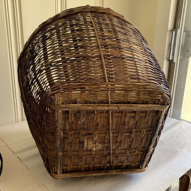 Wood Earthy Wood Rustic Decor & Storage Basket For Sale - Image 7 of 9