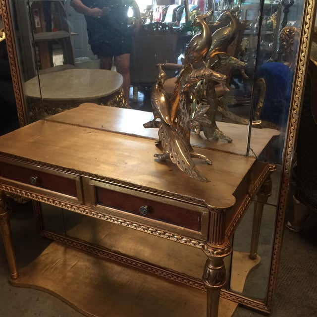 Neoclassical Gilt Console With Floor Mirror For Sale In Atlanta - Image 6 of 6