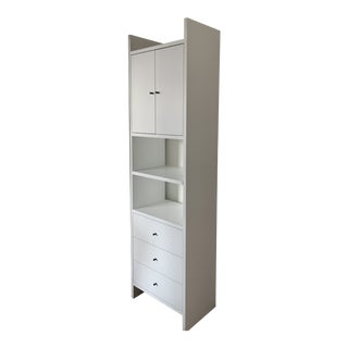 Minimalist Room & Board Addison 2-Door/3-Drawer Bookcase For Sale