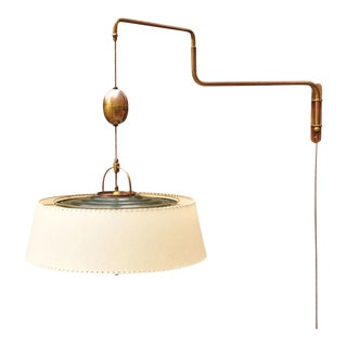 "Amba ""Lyss"" Swing-Arm Wall Lamp, Switzerland, 1940s For Sale"