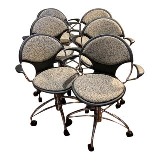 Mid-Century Contract Swivel Chairs - Set of 6 For Sale