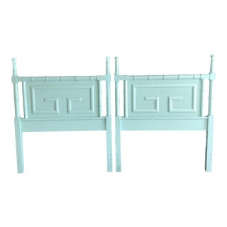 1970s Regency Faux Bamboo Twin Headboards - a Pair For Sale