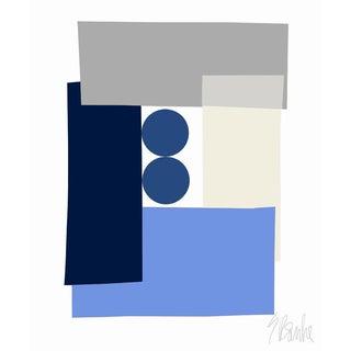 """Blue Tuxedo Fine Art Print 25"""" X 30"""" by Liz Roache For Sale"""
