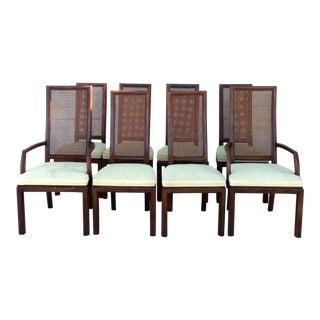 Vintage Henredon Cane Back Dining Chairs- Set of 8