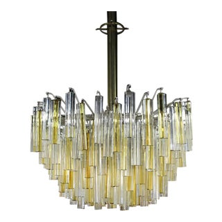 Gorgeous Two-Tone Gold and Clear Camer Light Fixture For Sale