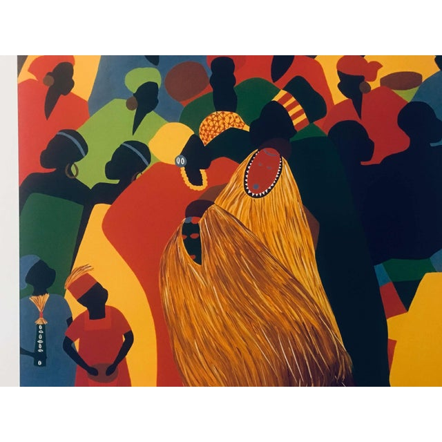 """1996 Black Heritage Art Show """"Celebration"""" Poster by Synthia Saint James For Sale - Image 9 of 11"""