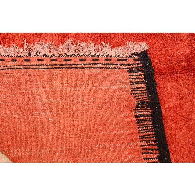 Orange Room Size Vintage Moroccan Rug - 5′3″ × 9′ For Sale - Image 8 of 9