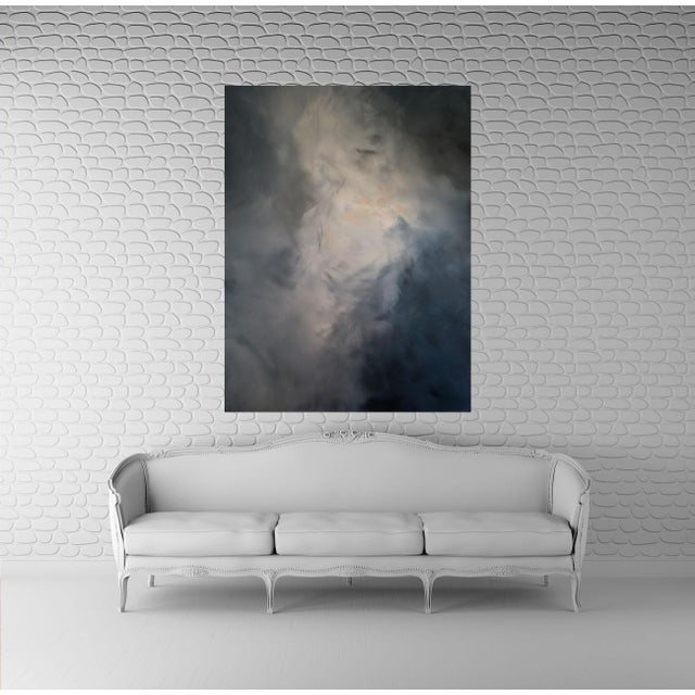 "Kris Gould ""Whispering Clouds"" Original Abstract Painting - Image 2 of 5"