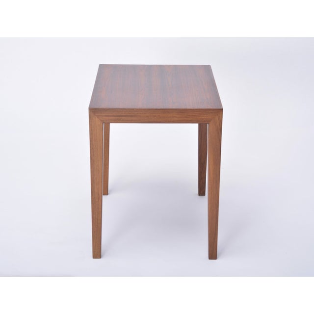 1960s Vintage Rosewood Side Table by Severin Hansen, 1960s For Sale - Image 5 of 9