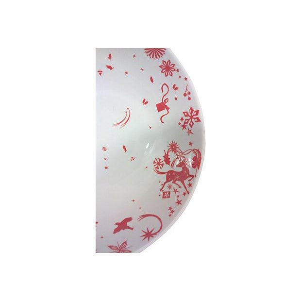 Red & White Porcelain Stag Bowls - Set of 4 For Sale - Image 4 of 4