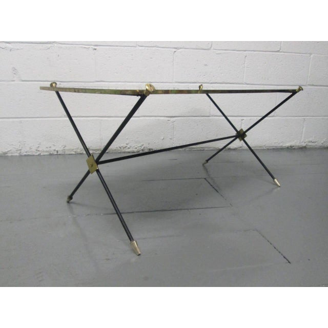 Brass and Iron Coffee Table Attributed to Arturo Pani - Image 3 of 9