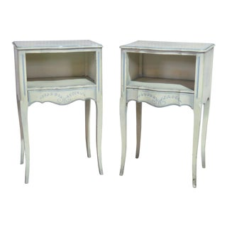 Pair of Swedish Cream Painted Night Stands For Sale