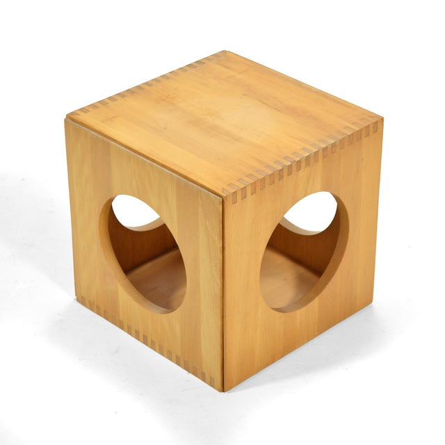 Birch Jens Quistgaard Cube End Tables by Richard Nissen For Sale - Image 7 of 11