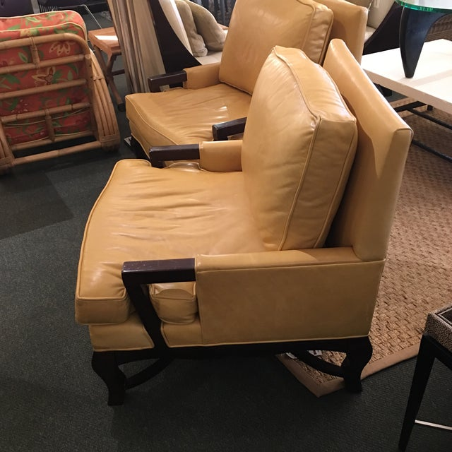 Kellex Leather Arm Chairs - A Pair - Image 5 of 7