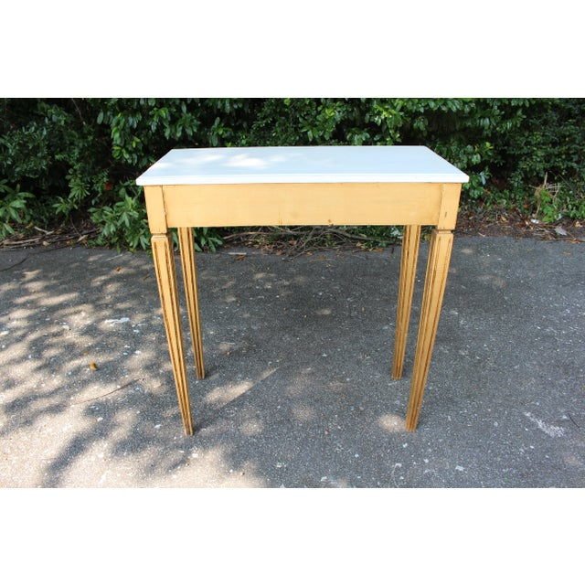 French Country Wooden Top Occasional Table For Sale In Atlanta - Image 6 of 7