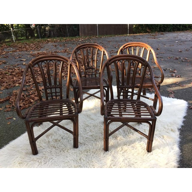 Vintage Rattan Chairs - Set of 4 - Image 2 of 8
