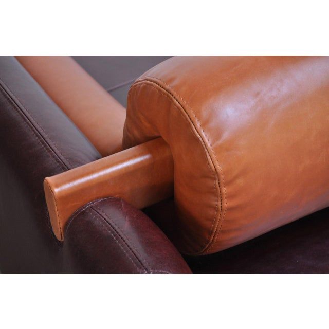 Leather 'Matinee' Sofa / Daybed by Vladimir Kagan For Sale - Image 12 of 13