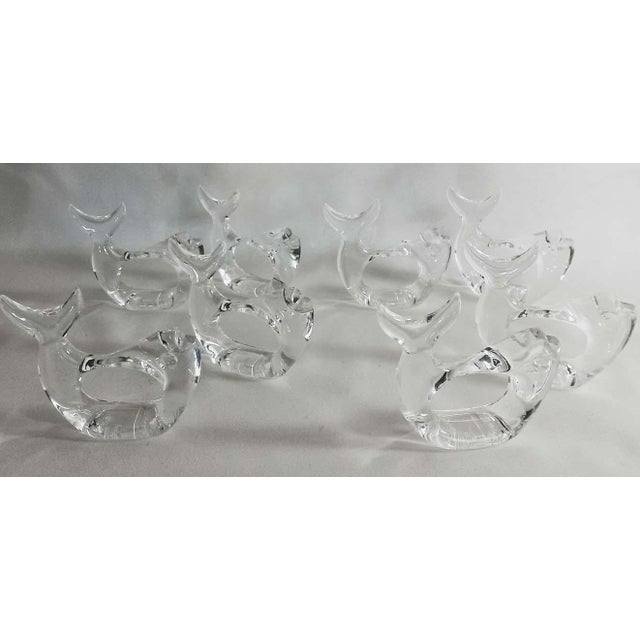 Nautical Bijan Lucite Fish Napkin Rings - Set of 9 For Sale - Image 3 of 5