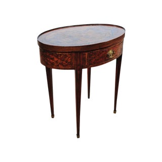 18th Century Walnut Oval Revolving Game Table For Sale