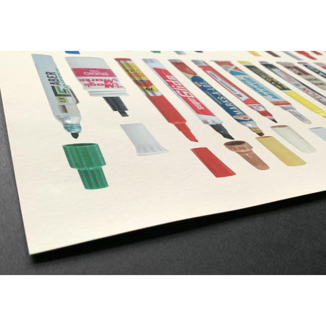 """Contemporary Limited Edition Art Print """"Tools of Criminal Mischief: Markers Edition"""" by Roger Gastman For Sale In Portland, ME - Image 6 of 12"""