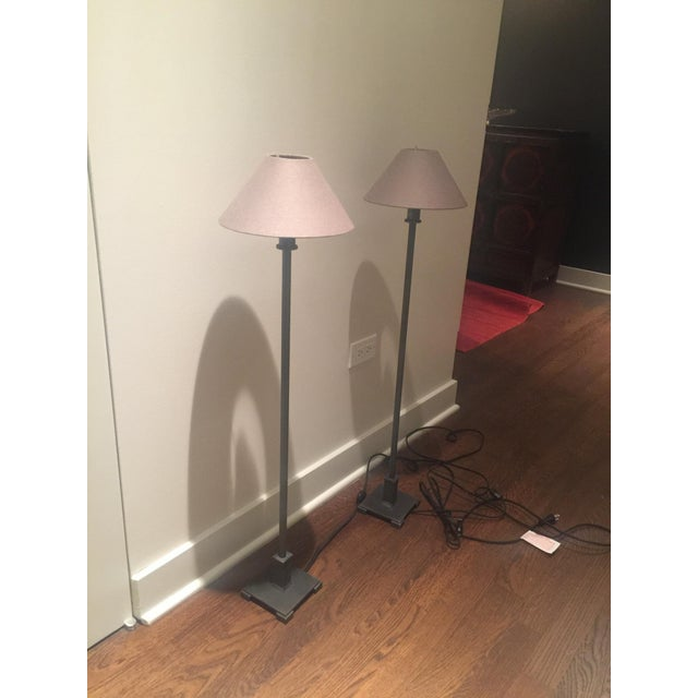 Restoration Hardware Petite Candlestick Buffet Lamps - A Pair For Sale - Image 5 of 5