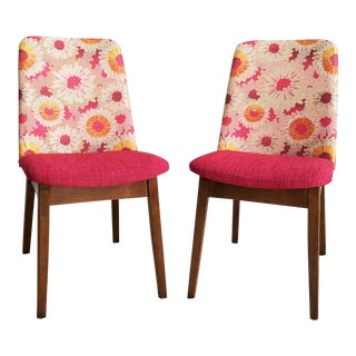 Fuchsia & Pink Accent / Dining Chairs - a Pair