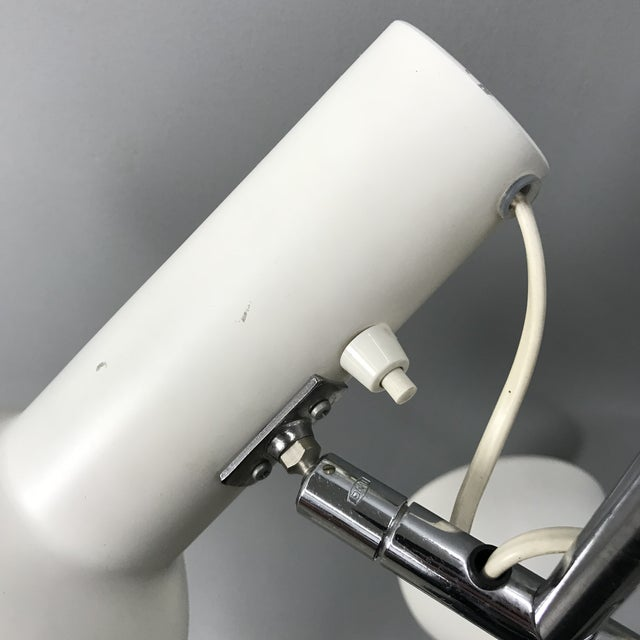 White Danish Adjustable Floor Lamp For Sale - Image 8 of 11
