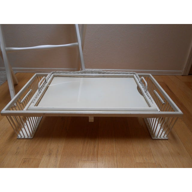 Lap Tray Side Table Antique White - Image 6 of 10