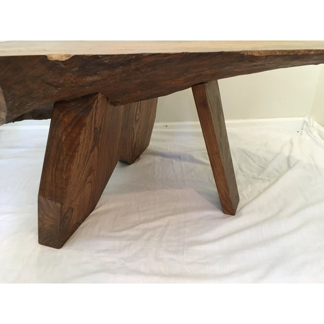 Brown Rustic Live Edge Tree Cocktail Table For Sale - Image 8 of 13