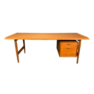 Vintage Danish Modern Arne Vodder for Sibast Teak Executive Desk For Sale