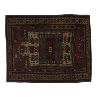 Early 20th Century Antique Shirvan Rug - 3′4″ × 5′3″ For Sale