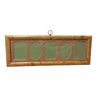 Vintage Dorvilliers Burlwood Multi-Photo Wall Frame For Sale