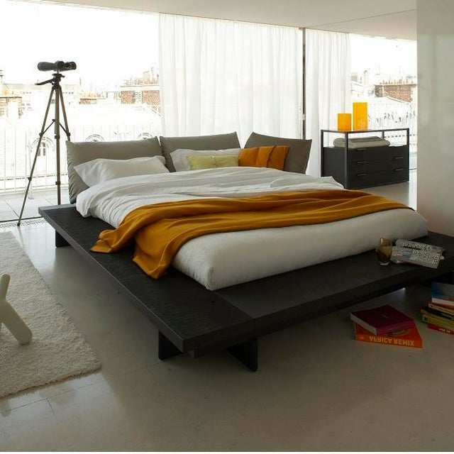 peter maly queen size bed chairish. Black Bedroom Furniture Sets. Home Design Ideas
