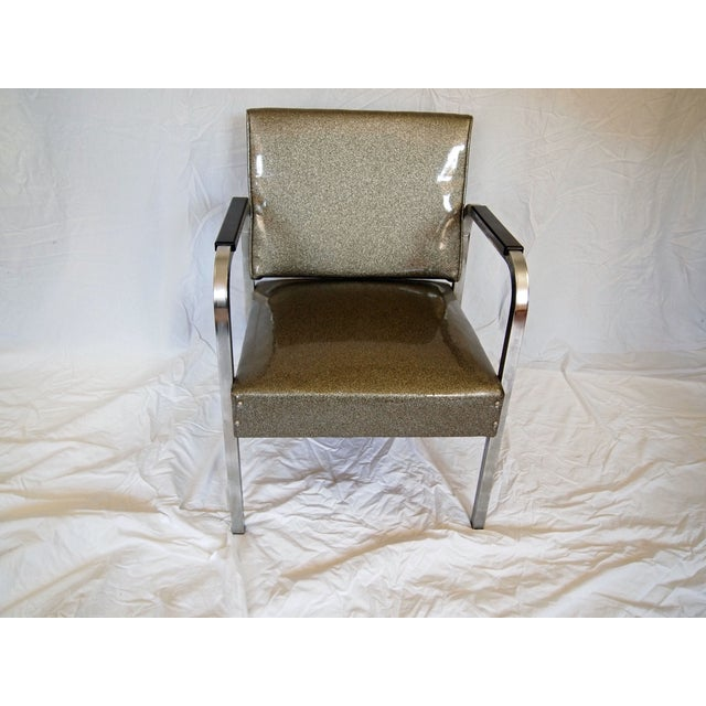 Chrome Chairs With Vinyl Seats - Pair For Sale - Image 4 of 5