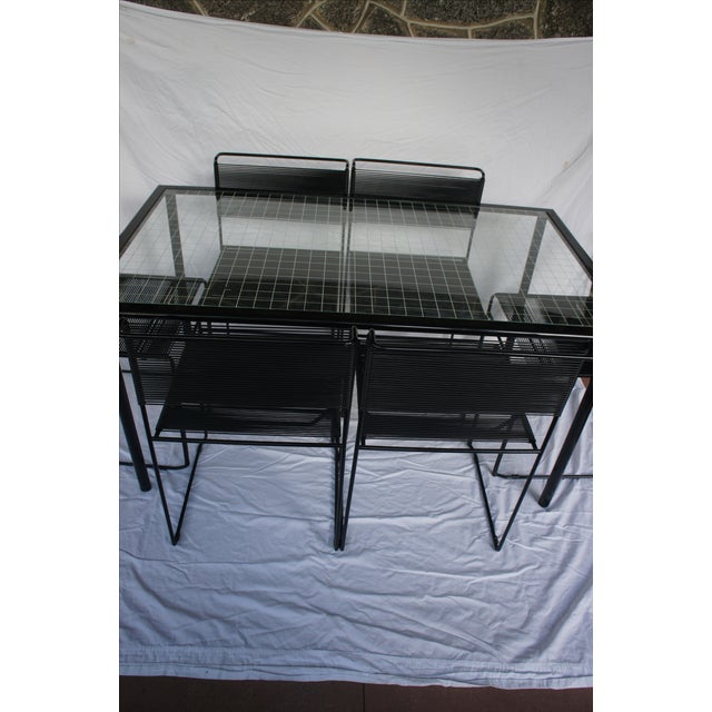 Giandomenico Belotti Spaghetti Chairs & Table- S/7 For Sale - Image 5 of 11