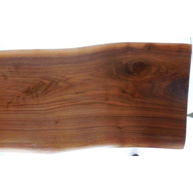 Dos Gallos Studio Black Walnut Console With Iron Legs For Sale In Los Angeles - Image 6 of 9
