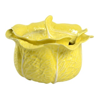 Secla Cabbage-Yellow Tureen For Sale