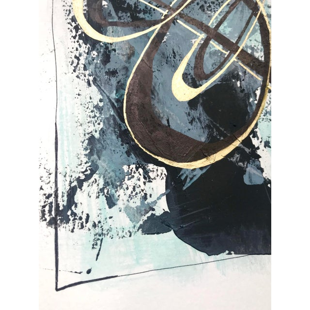 """2010s Modern Original """"Orbits and Comets"""" Mixed Media by Christy Almond For Sale - Image 5 of 12"""