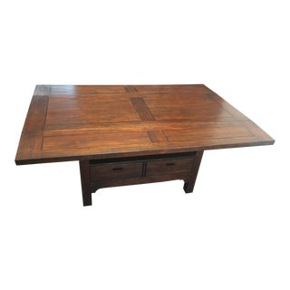 Modern Rustic Dropleaf Dining Table For Sale