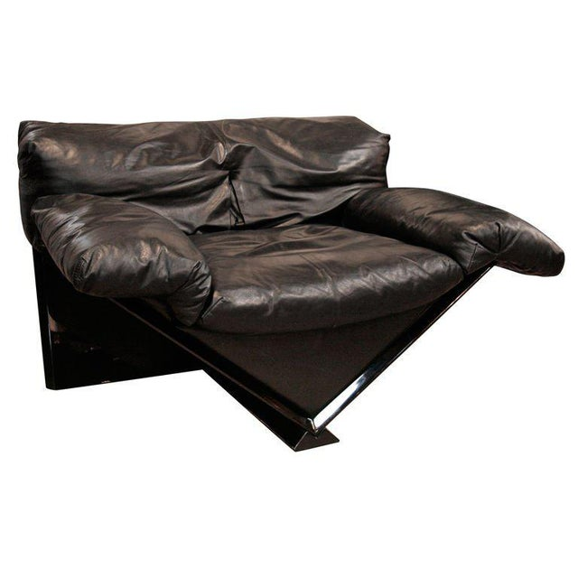 """Animal Skin Italian MIM Leather Armchair """"VICTORY"""" For Sale - Image 7 of 7"""