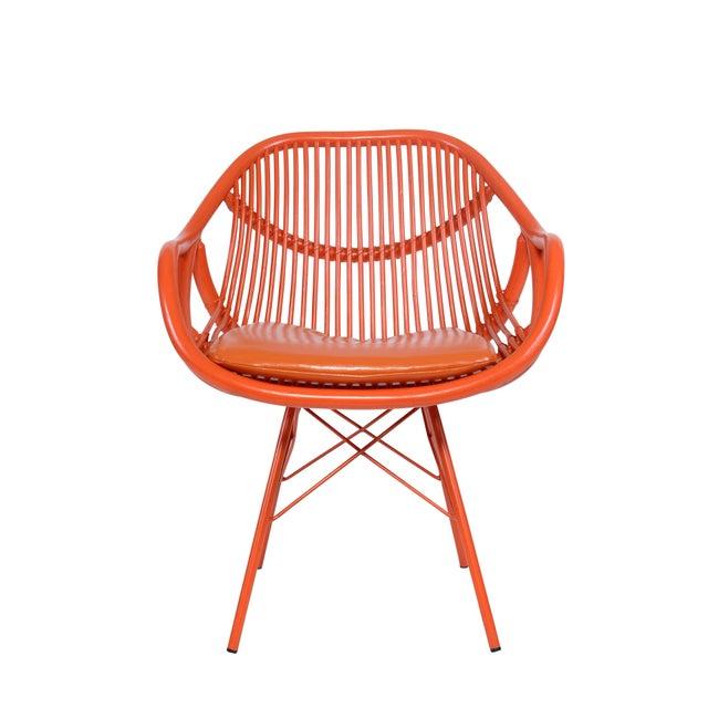 David Francis Modern Rattan Chair - Image 3 of 3