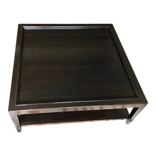 Contemporary Square Mahogany Coffee Table For Sale