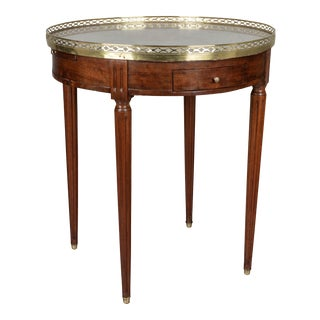 19th Century Louis XVI Style Marble-Top Bouillotte Table For Sale