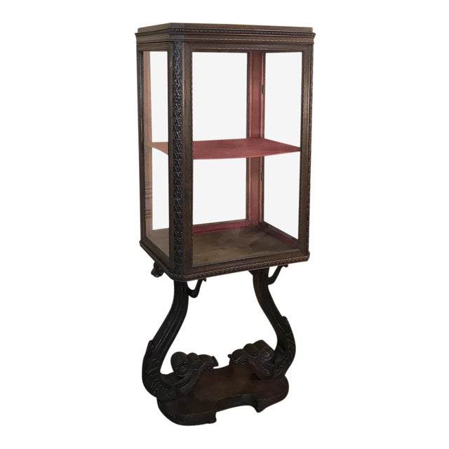 19th Century French Louis X Collector's Vitrine For Sale