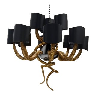 Serpentine Chandelier From Covet Paris For Sale